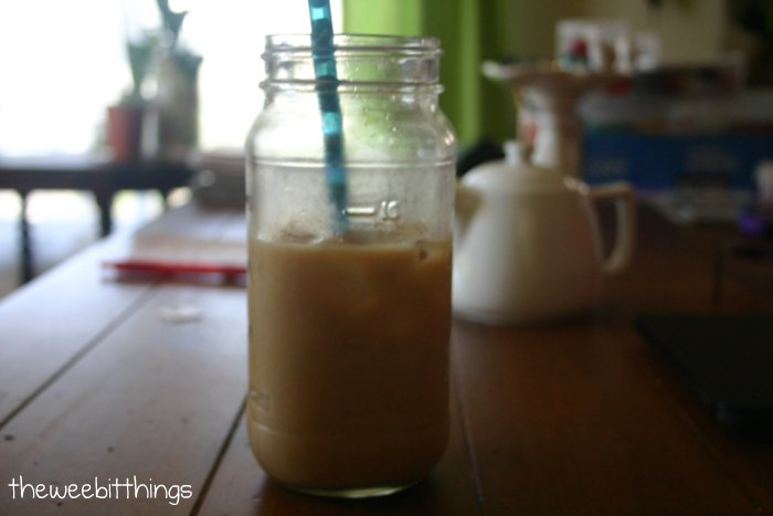 Iced Coffee in a Jar