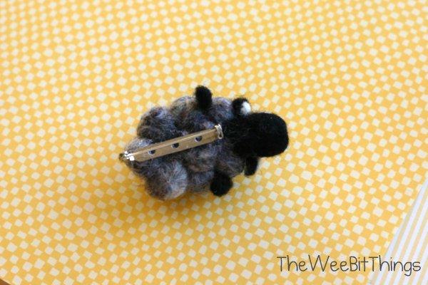 Handmade Wool Felt Lamb Brooch