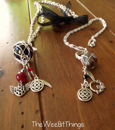 Necklace with Wire Wrapped Ring Pendant