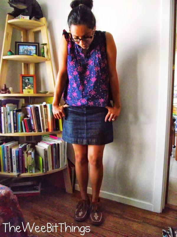 Girl wearing Manitobah Brand Moccasins