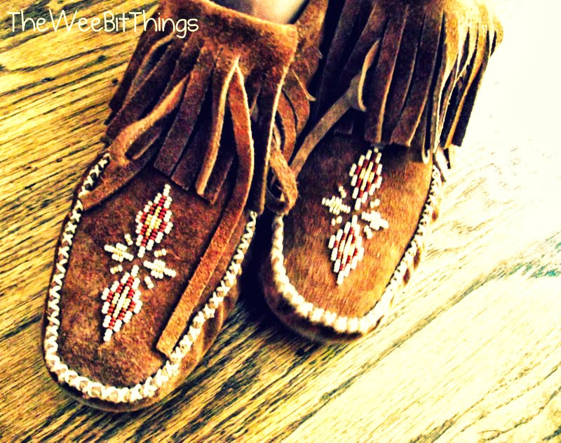 Manitobah Moccasins Close Up Photo Shot