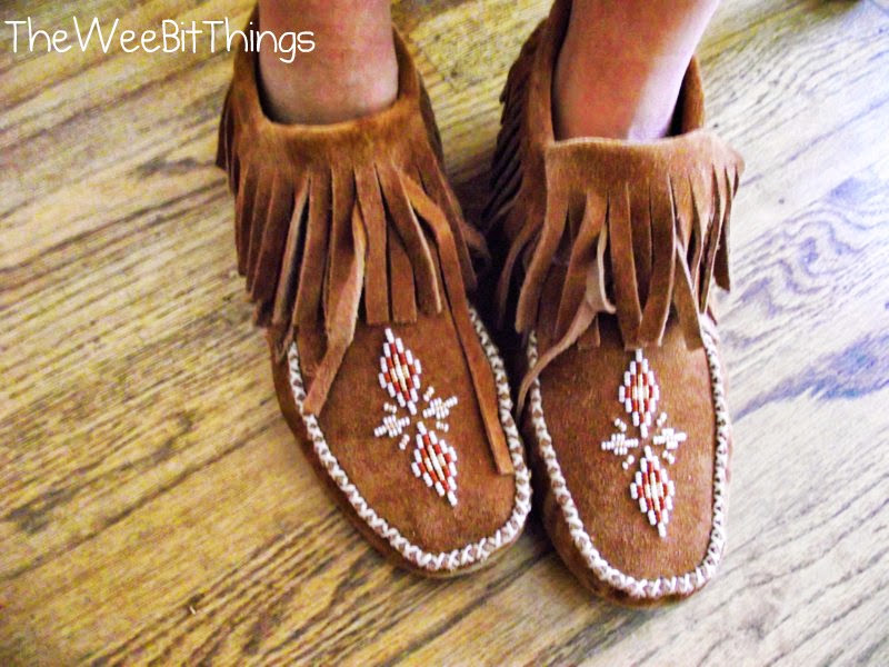 Suede Tan Moccasins