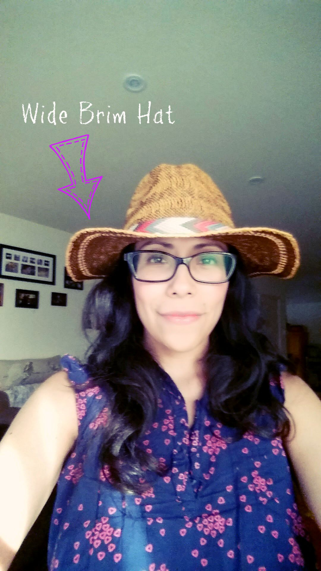 Wide brim straw hat by Roxy