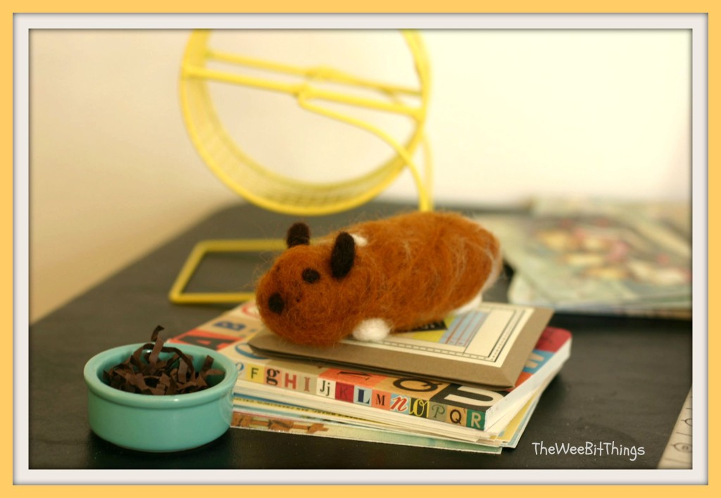 Image of a wool felt hamster