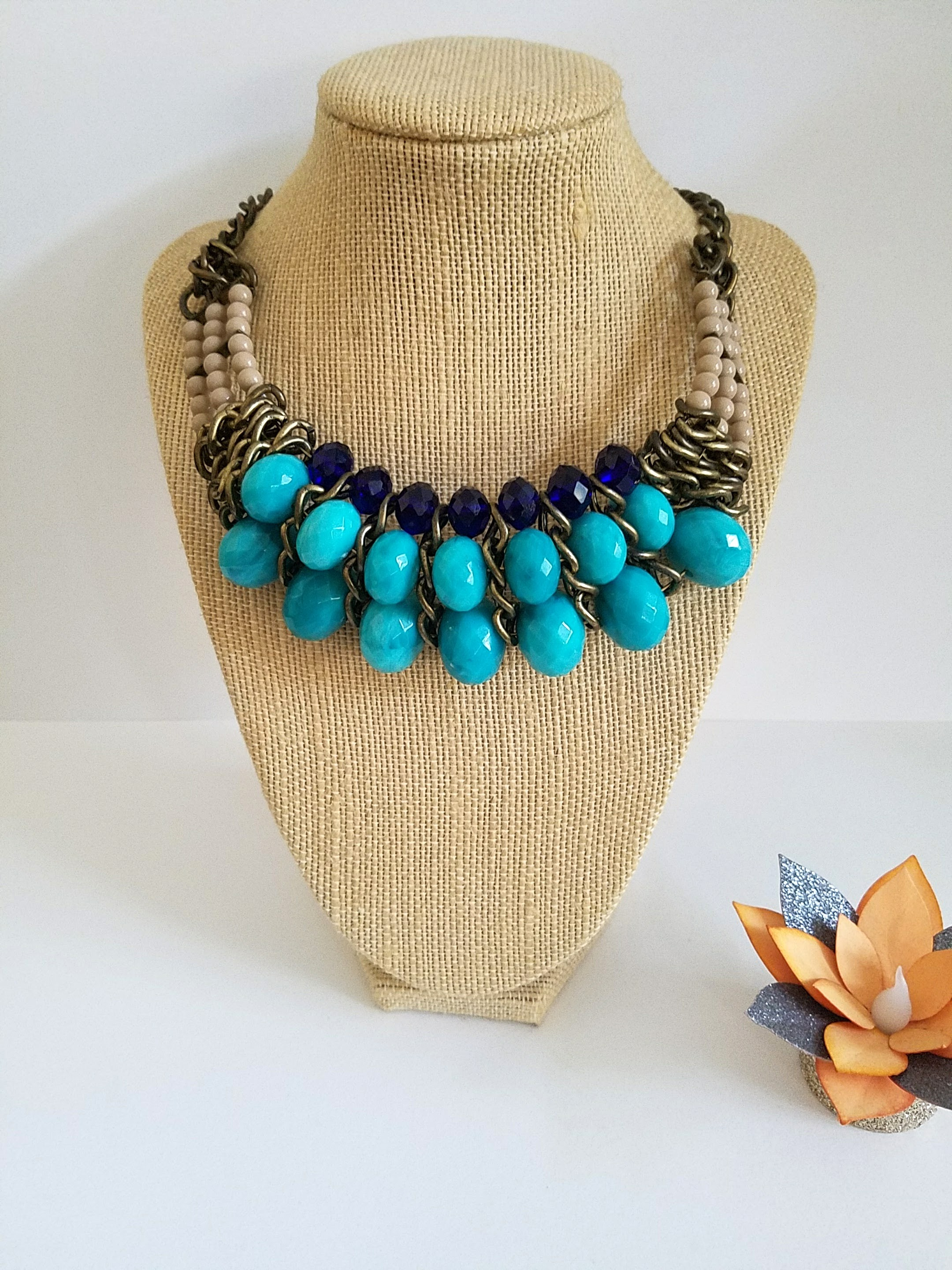 Vintage Bib Statement Necklace