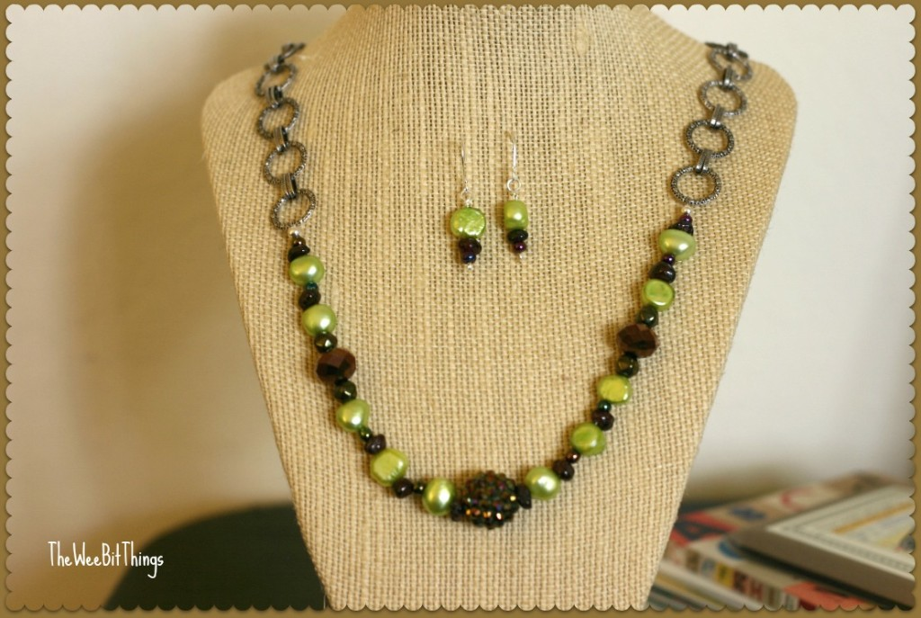 Chain and Potato Pearls Plus Acrylic Necklace
