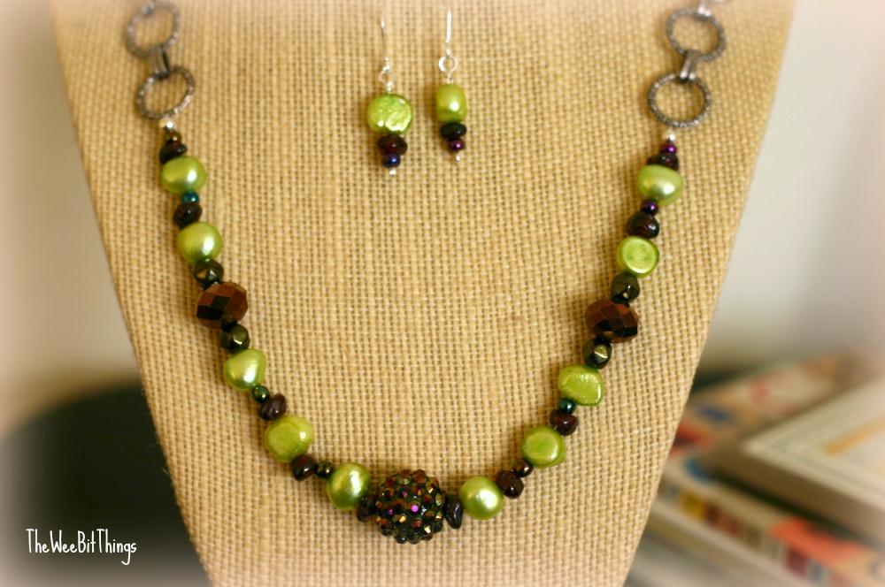 Chain Plus Potato Bead Necklace Close Up