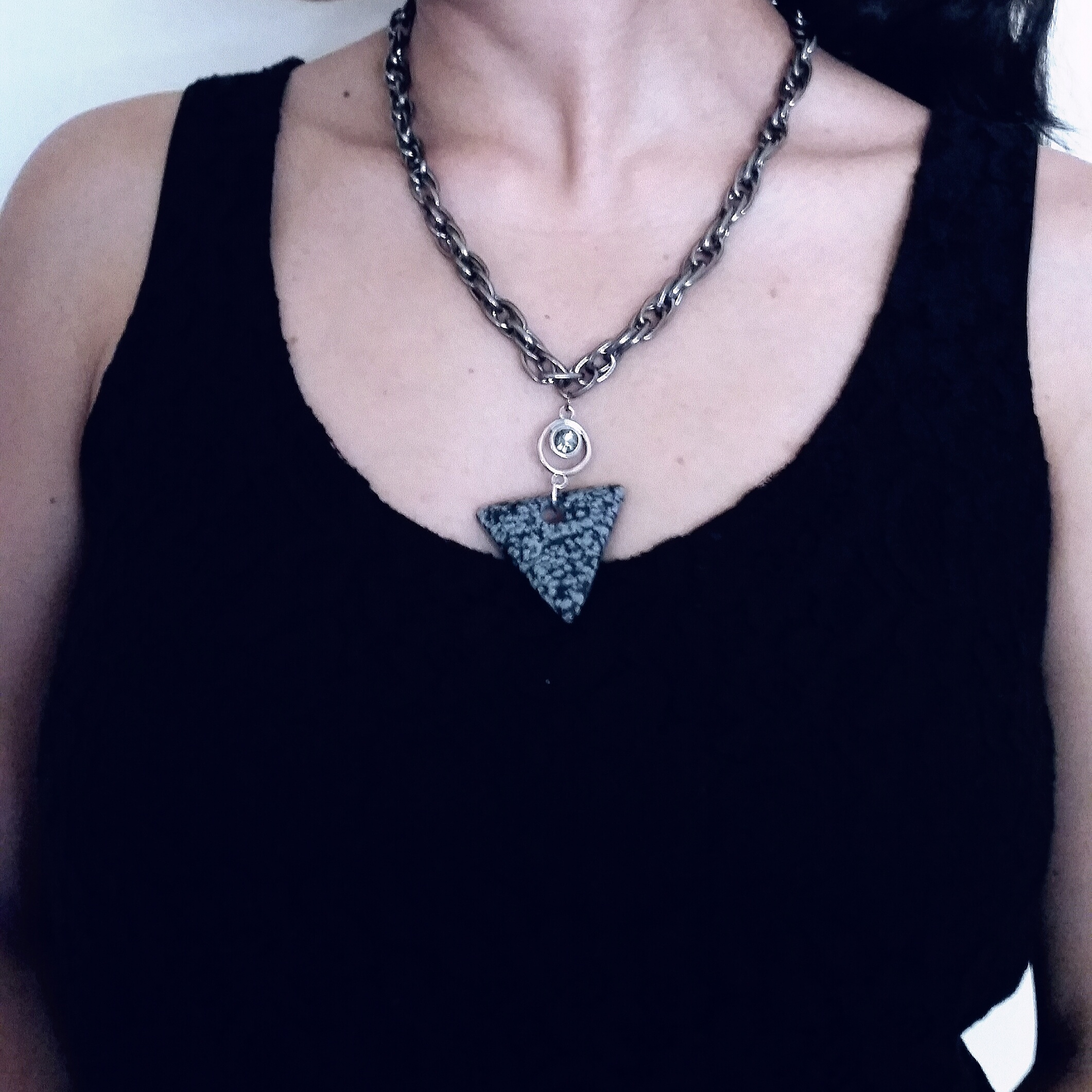 Inverted Triangle Chain Necklace