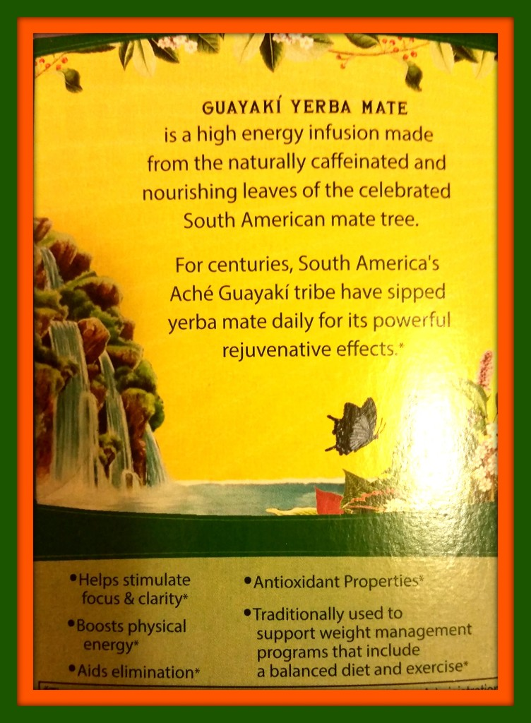 Image of Back of Yerba Mate Tea Box