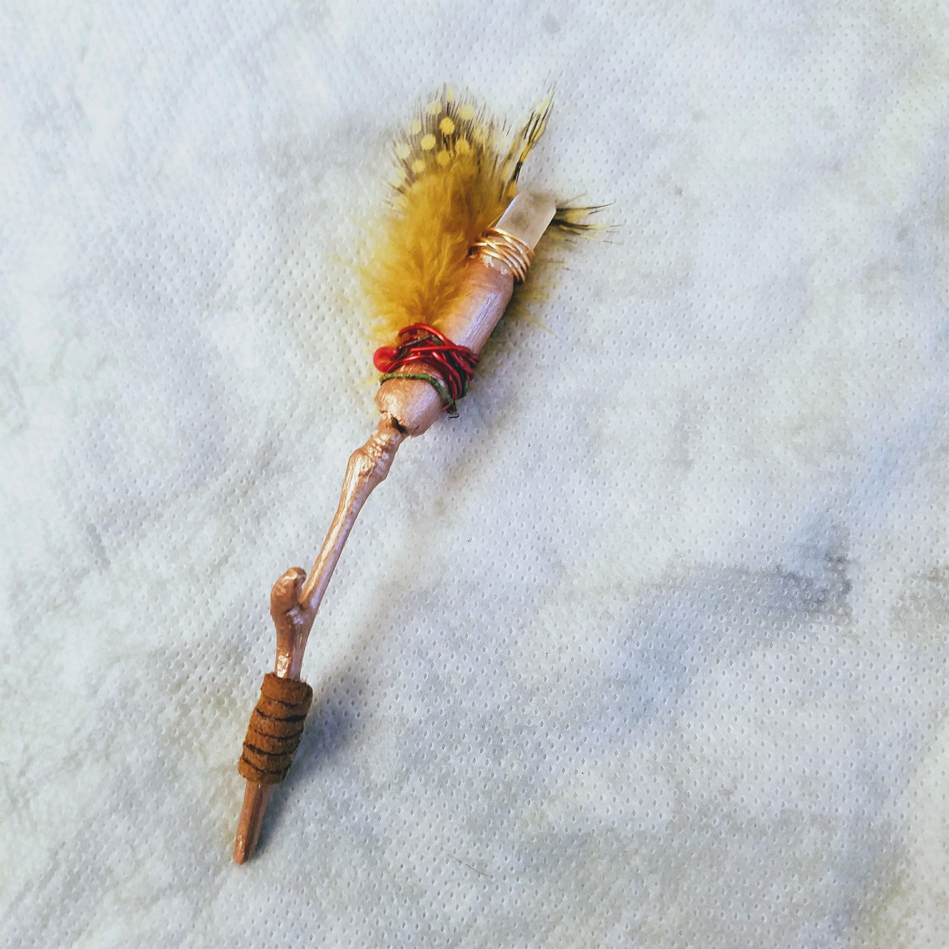 DIY Small Folk Fairy Wand w Leather